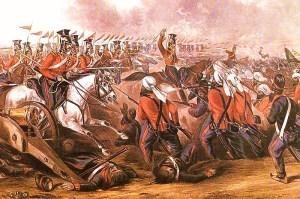 Charge of 16th Lancers at Aliwal