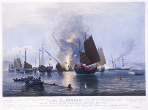 Destroying Chines Junks - First Opium Wars