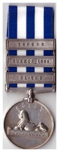 Egypt Medal 3 Bar El-Teb Rev 25012 Gunr W Gowens 6/1st Sco Div RA