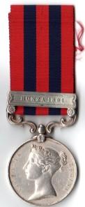 IGSM 1854 Hunza 1891Obv - Naick Ummon Khan, 24th Regt,N I