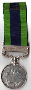 IGSM Burma 1930-32 Rev 759552 Pte F Jones Oxf & Bucks L I