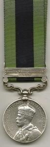 IGSM North West Frontier 1935 Obv 8993 Sepoy Mian Mohd 1-15 Punjab Regt