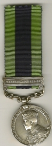 IGSM Waziristan 1921-24 Obv 7859 RFMN. Dalbahadur  Pun. 2-8  G R