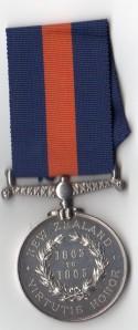 New Zealand 1863-65 rev - 525. Wm Dean, 70th Regt