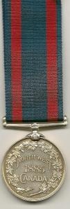North West Canada Medal Rev