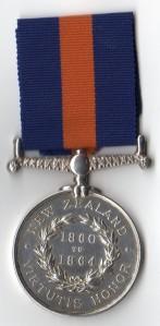 NZ Medal 1860-64 Rev - 3408 G Carnell 40th Regt