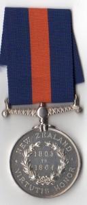 NZ Medal 1863-64 Rev - T Goldsmith, Boy 1st Cl, H.M.S. Esk