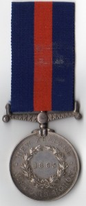 NZ Medal 1865 Rev - 1012 Jas. Wilson, 65th Regt