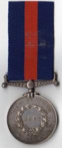 NZ Medal 1865 Rev - 1012 Jas. Wilson, 65th Regt