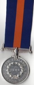 NZ Medal 1866 Rev - 2023 John Brazier, 4th Natn. Mility Trn.