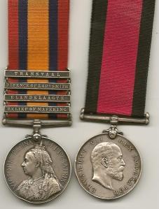 H C Maw QSA and Natal Medal Pair