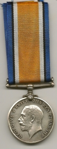 British War Medal 1914-20 Rev 44661 Pte. H Milton The Queens Regt
