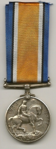 British War Medal 1914-20 Rev 44661 Pte. H Milton The Queens Regt