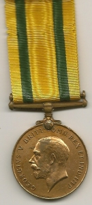 Territorial Force WM Obv 4 B.Q.M. Sjt. F. Pugsley. R.A.