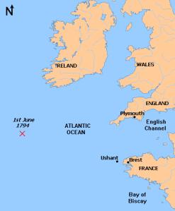1st June 1794 Map
