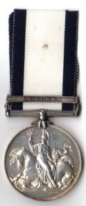 Naval General Service Medal 1847 - Algiers - William Stephens HMS Severn